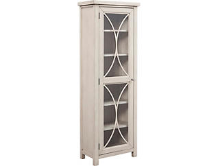 Bayside Weathered Grey 1 Door Tall Cabinet, , large
