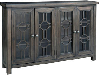 Bayside Grey 4 Door Cabinet, , large
