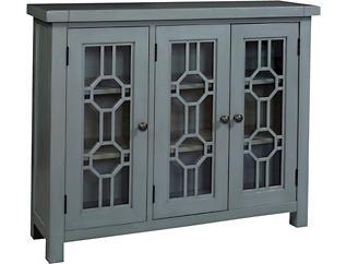 Bayside Blue 3 Door Cabinet, , large