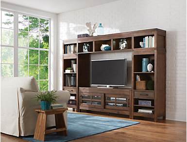 """St. Croix 64"""" Grey TV Stand, Grey, large"""