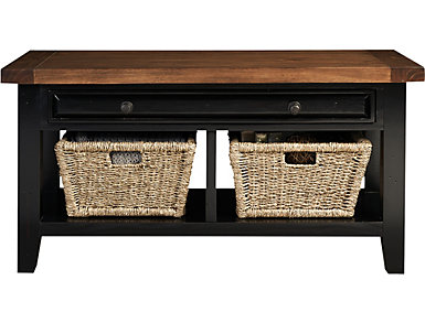 Baker Bench with Baskets, , large