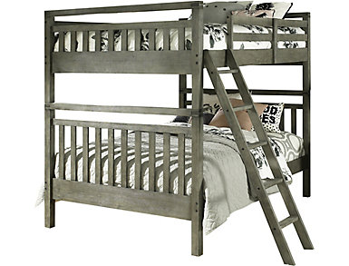 St. Croix Full Bunkbed, Charcoal Grey, , large