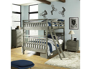 St. Croix Charcoal Full Bunkbed, Grey, large