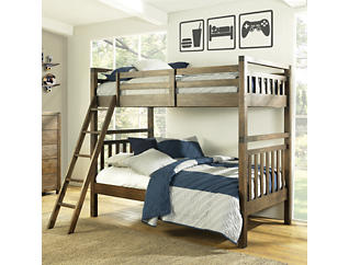 St.Croix Full Bunkbed - Walnut, , large