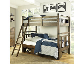 St.Croix Walnut Full Bunkbed, Dark Brown, large