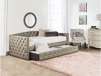 Memphis Upholstered Daybed with Trundle, , large