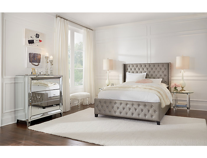Memphis Queen Upholstered Bed, , large