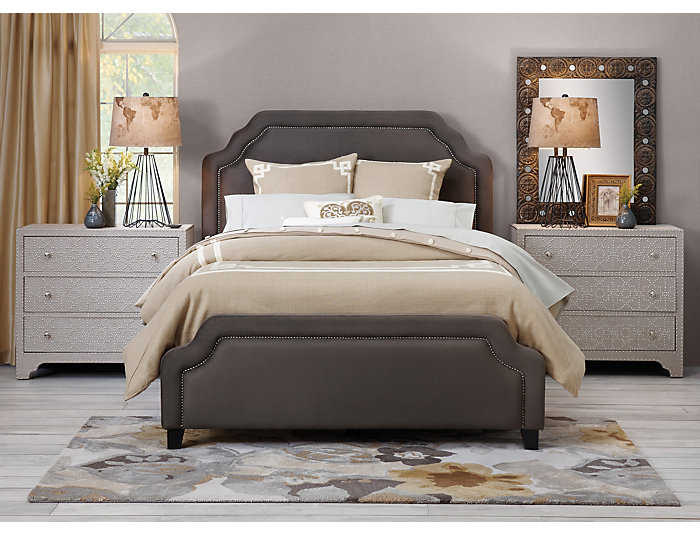 Carlyle Queen Upholstered Bed, , large