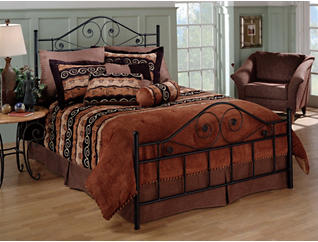 Harrison Queen Metal Bed, , large