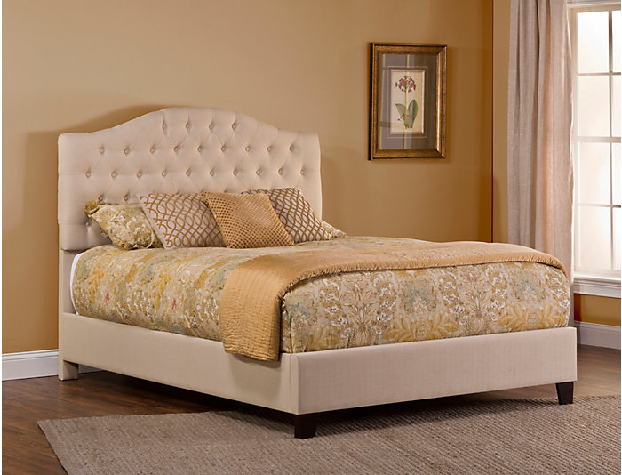 Jamie King Upholstered Bed, , large
