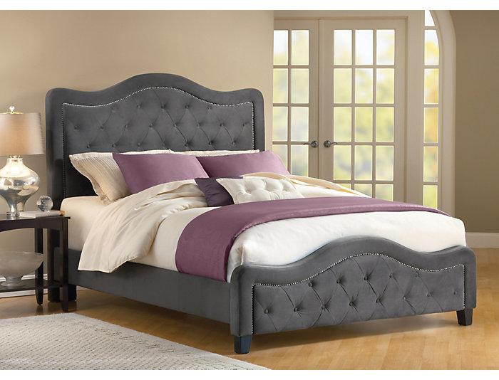 Trieste King Upholstered Bed, , large