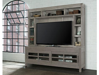 "St Croix 74"" Charcoal TV Stand and Hutch, , large"
