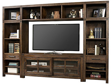 "St Croix Burnished Walnut Wall with 64"" TV Stand, , large"