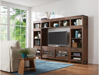 "St Croix Burnished Walnut Wall with 64"" TV Stand, Brown, large"