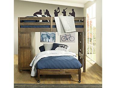 St.Croix Loft w/4/6 Caster Bed, , large