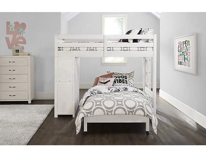 St Croix Loft W 4 6 Caster Bed Art Van Home