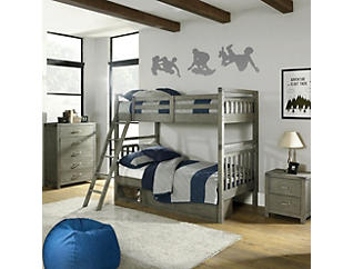 St.Croix Twin Bunkbed-Charcoal, , large
