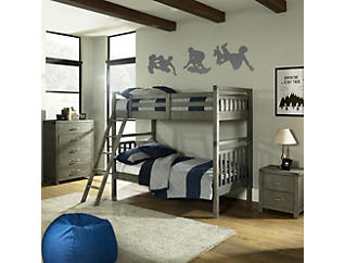 St.Croix Charcoal Twin Bunkbed, , large