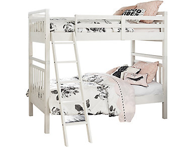 St.Croix Twin Bunkbed, White, , large