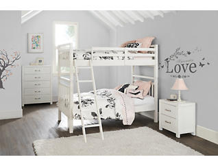 St.Croix White Twin Bunkbed, , large