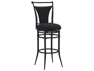 Cierra Black Swivel Bar Stool, , large