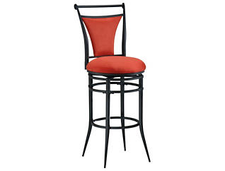 Cierra Red Swivel Bar Stool, , large
