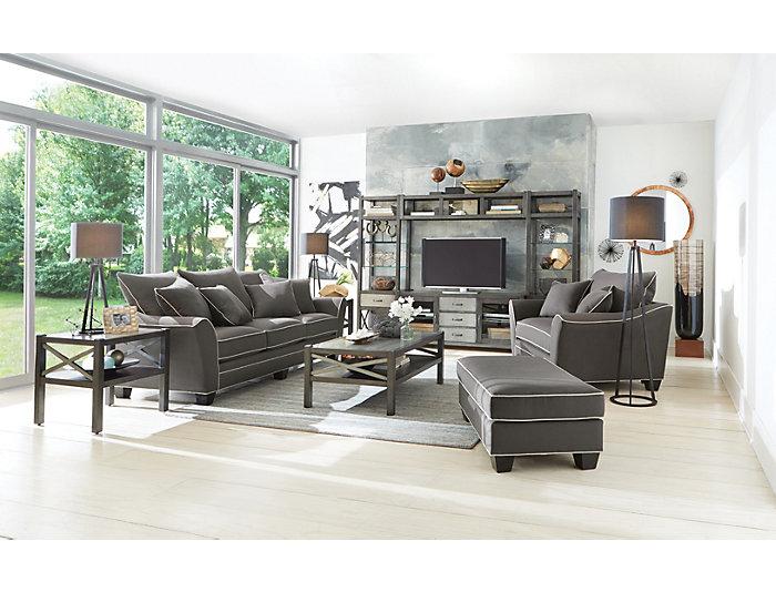 Dillon Slate Chair and a Half | Art Van Home