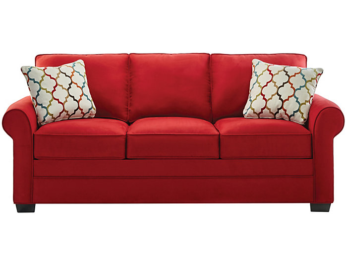 Murphy Queen Plus Sleeper Sofa Red Art Van Home