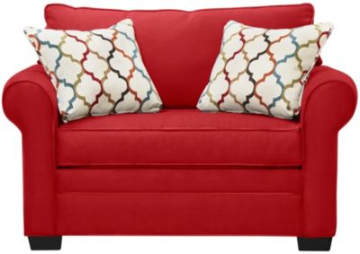 Murphy Loveseat Sleeper, Cardinal, swatch