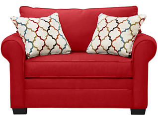 Murphy Loveseat Sleeper, Cardinal, large