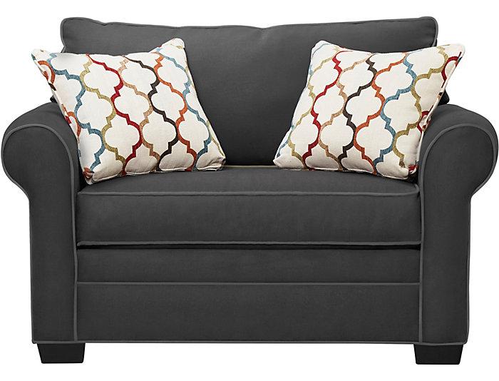 Awesome Murphy Slate Loveseat Sleeper Art Van Home Ibusinesslaw Wood Chair Design Ideas Ibusinesslaworg