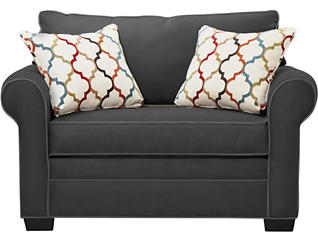 Murphy Loveseat Sleeper, Slate, Slate, large
