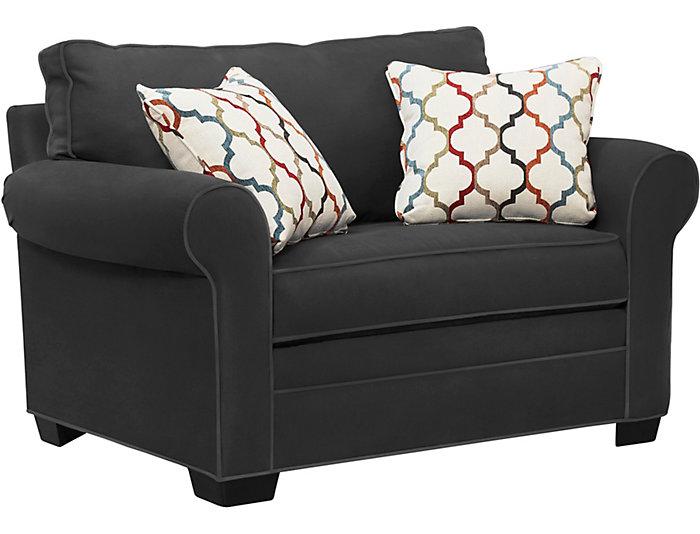 Outstanding Murphy Slate Loveseat Sleeper Art Van Home Ibusinesslaw Wood Chair Design Ideas Ibusinesslaworg