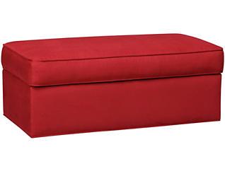 Murphy Storage Ottoman, Cardinal, Cardinal, large