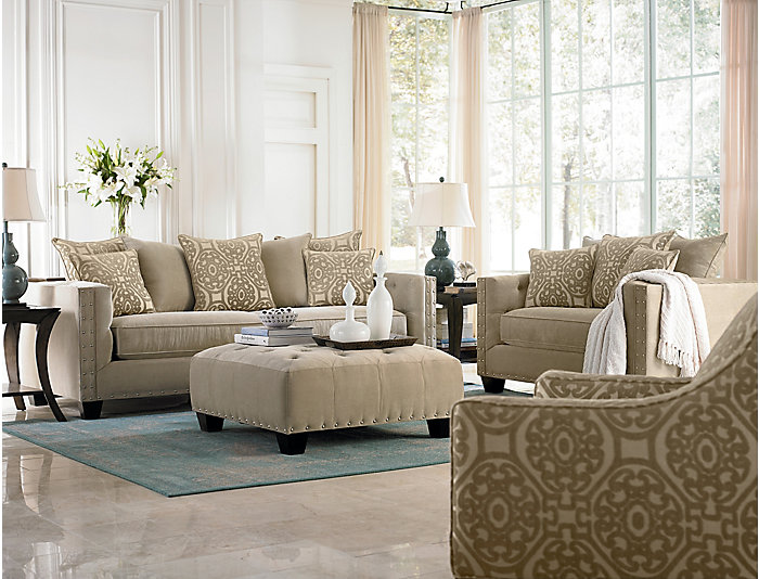 Sidney Road Sofa, Beige, Beige, large