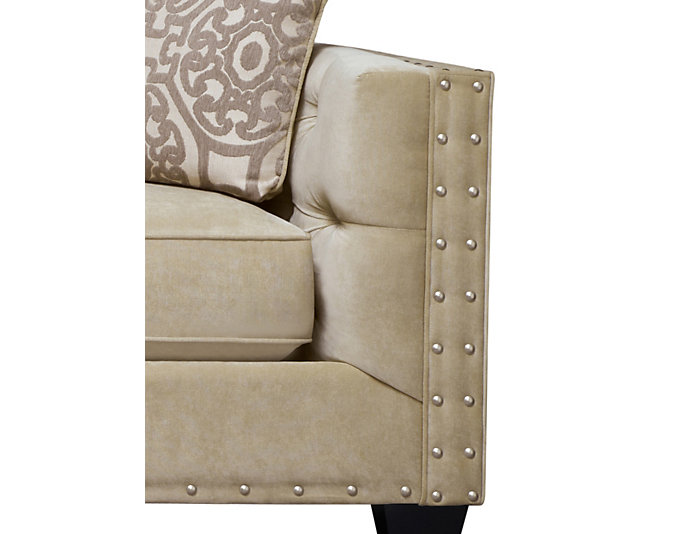 Sidney Road Sofa, Beige, Beige, large