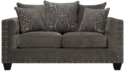 Sidney Road Loveseat, Grey, swatch