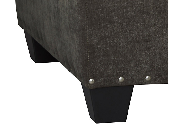 Sidney Road Cocktail Ottoman, Grey, Grey, large