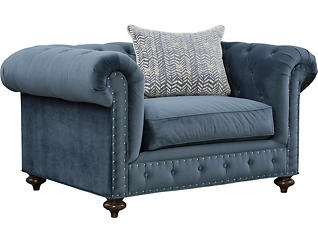 Knightsbridge Chair and a Half, Blue, , large