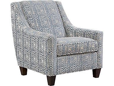 Knightsbridge Chevron Accent Chair, , large