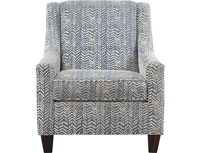 Knightsbridge Accent Chair, Blue, , large