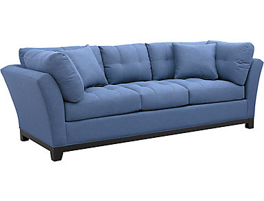 Illusions II Denim Sofa, Denim, large