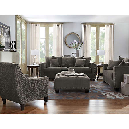 sidney road taupe living room collection cindy crawford home sidney road taupe sofa www