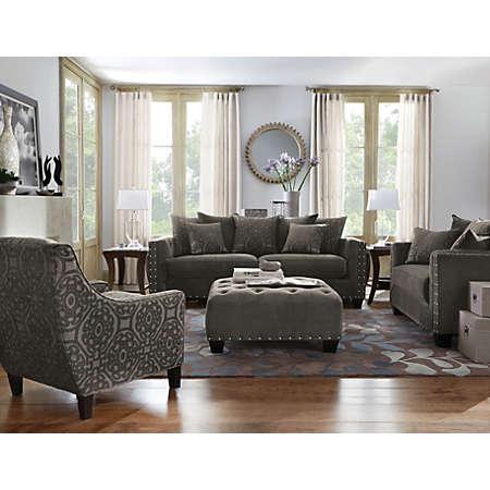 Art Van Leather Living Room