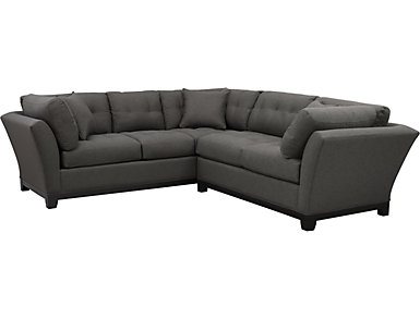 Illusions-II Slate 2 Piece Right-Arm Facing Loveseat         Sectional, , large