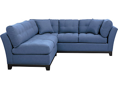 Illusions II Denim 2 Piece Sectional, Denim, large