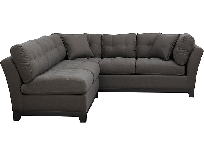 Illusions-II 2-Piece Armless Loveseat Sectional, Slate, , large