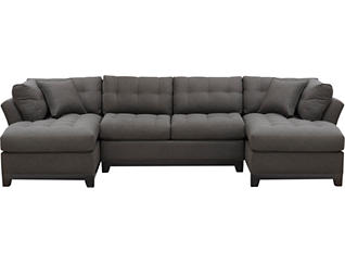 Illusions-II 3-Piece Dual-Chaise Sectional, Slate, , large