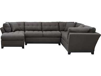 Illusions-II Slate 3 Piece Left-Arm Facing Chaise Sectional, , large