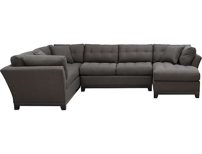 Outstanding Illusions Ii Slate 3 Piece Right Arm Facing Chaise Sectional Evergreenethics Interior Chair Design Evergreenethicsorg